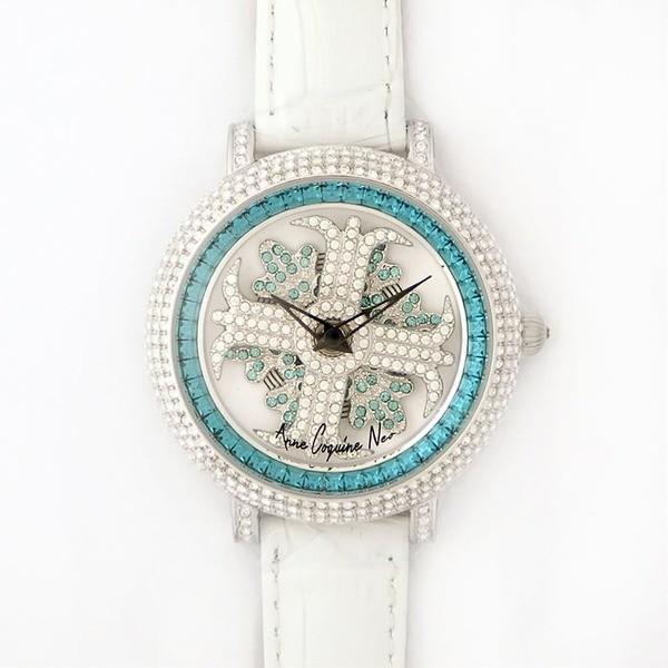 納得できる割引 アンコキーヌ ネオ 40mm バイカラー ミニクロス シルバーベゼル インナーベゼルブルー ホワイトベルト イール 正規品(腕時計・グルグル時計), バレーボールHiQ 72fb640c