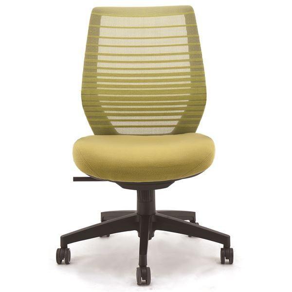 座面昇降式オフィスチェア/デスクチェア 〔肘なし×グリーン〕 メッシュ素材 リクライニング キャスター付き 『ビートル』〔代引不可〕