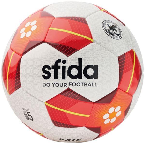 SFIDA(スフィーダ) サッカーボール 5号球 VAIS ホワイト×レッド BSFVA02