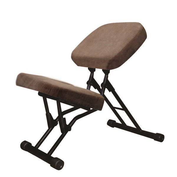 学習椅子/ワークチェア 〔ライトブラウン×ブラック〕 幅440mm 日本製 折り畳み スチールパイプ 『セブンポーズチェア』〔代引不可〕