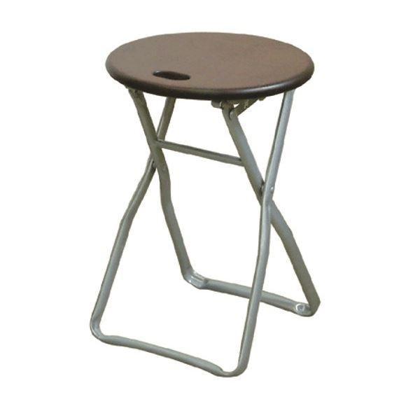 折りたたみ椅子 〔4脚セット 〔4脚セット ダークブラウン×シルバー〕 幅32cm 日本製 木製 スチールパイプ 『キャプテンチェア』〔代引不可〕