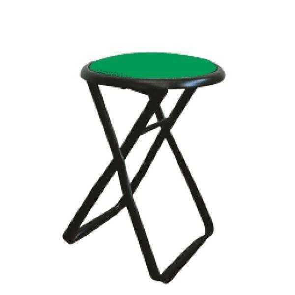 折りたたみ椅子 〔6脚セット グリーン×ブラック〕 グリーン×ブラック〕 幅32cm 日本製 スチールパイプ 『キャプテンチェア』〔代引不可〕