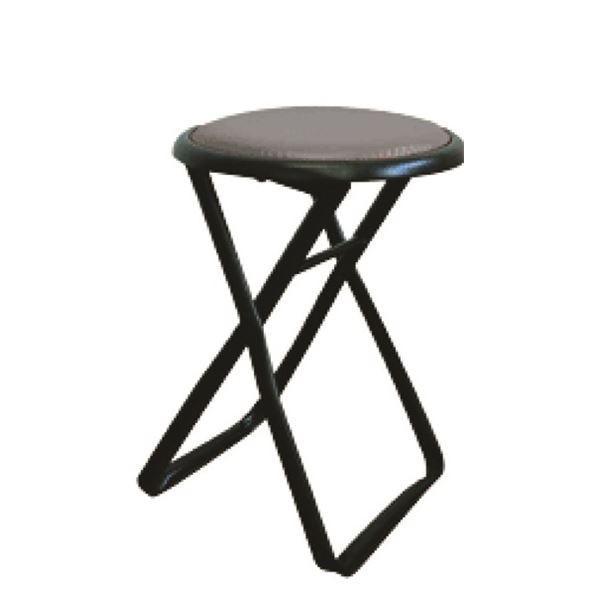 折りたたみ椅子 〔6脚セット ブラック×ブラック〕 ブラック×ブラック〕 幅32cm 日本製 スチールパイプ 『キャプテンチェア』〔代引不可〕