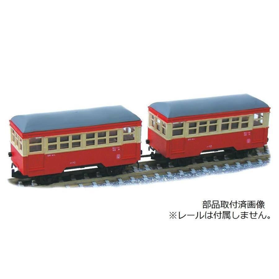 津川洋行 Nゲージ 車両シリーズ 銚子電気鉄道 ハフ1・ハフ2 客車セット (車体色:赤電色) 14048