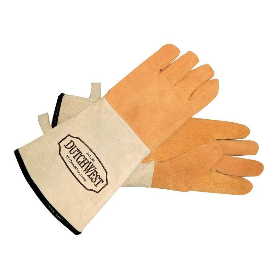 ストーブアクセサリー ダッチウエスト ストーブグローブ GL3レザー 薪 手袋