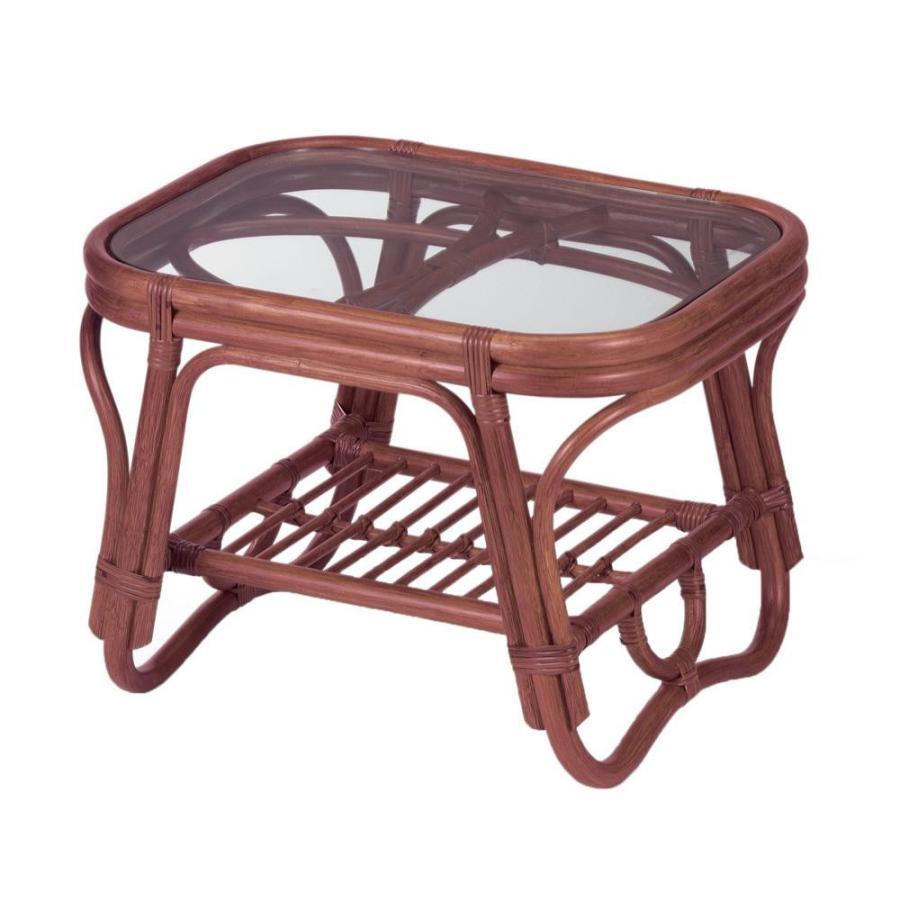 今枝ラタン 籐 テーブル サイドテーブル ブラウン NO-36D
