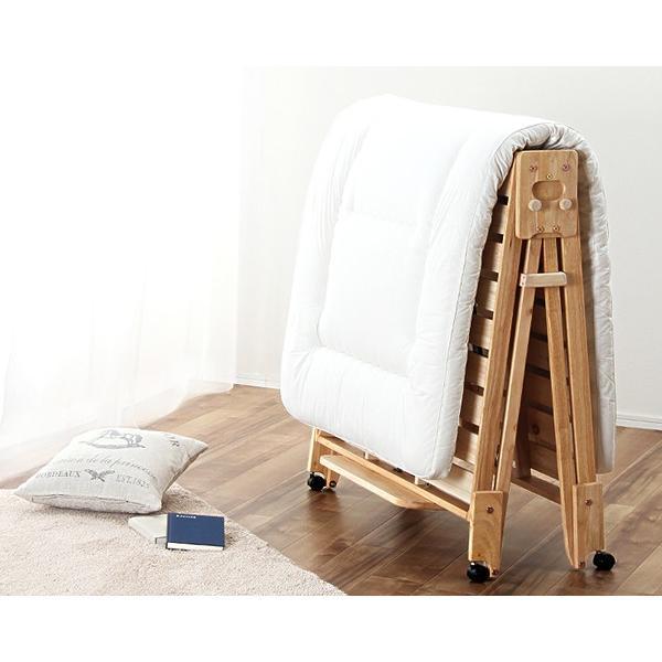 木製 国産 すのこベッド 折りたたみ 折りたたみすのこベッド 折り畳み