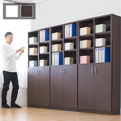 本棚 本棚 本棚 A4書棚 扉付き本棚 9018 2ドア 幅90cm 大容量 幅90 高さ180 3b1