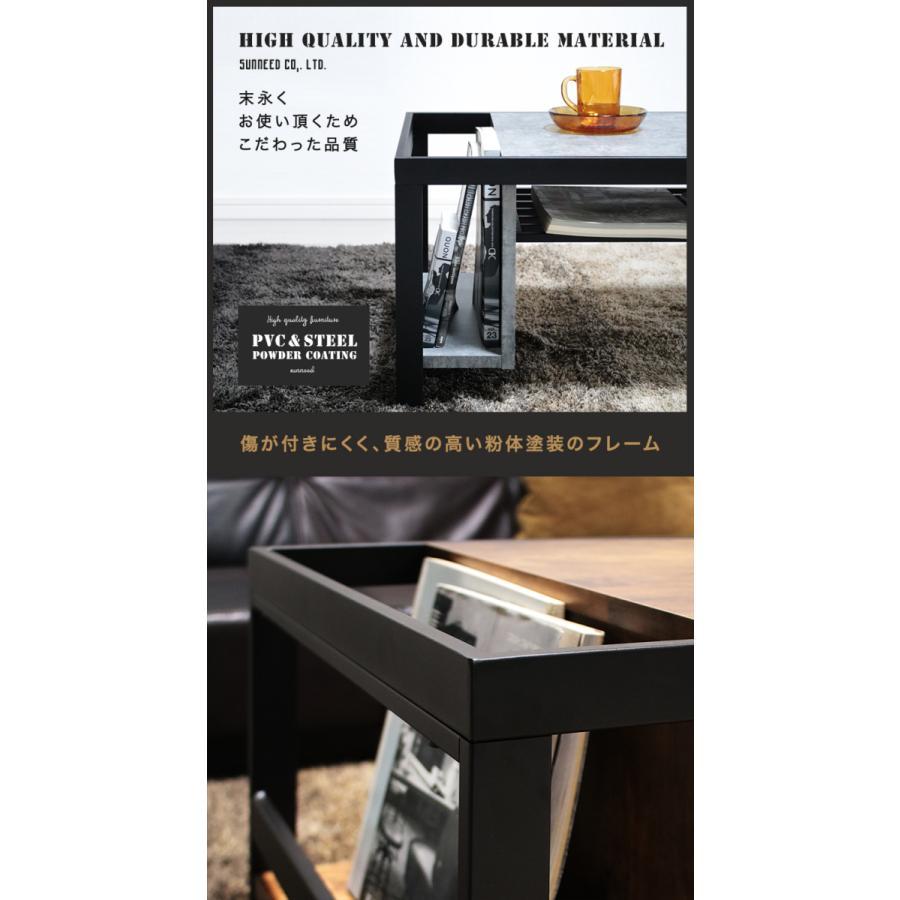 ローテーブル おしゃれ 収納付き 幅92 棚付き 北欧 インダストリアル bict-9538 kaguemon 09