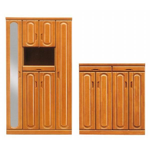 シューズボックス 幅100cm ライトブラウン ライトブラウン 木製 リーズン 100LシューズBOX