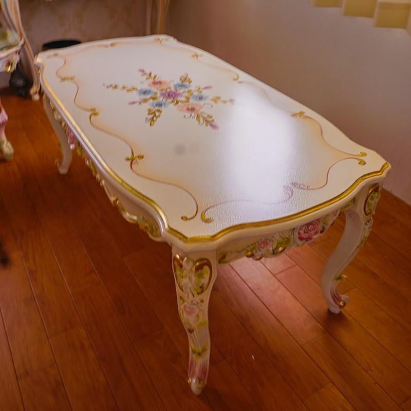 無垢材 ロココ調家具 センターテーブル ar1506 送料無料