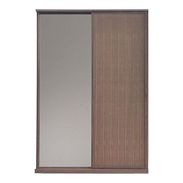 MARUTA NOOSA 家具 婚礼家具 タンス 環境対応 開梱設置 90-1800洋服タンス(左扉 鏡) ブラックチェリー