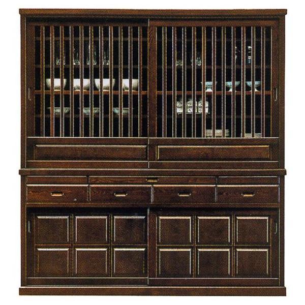 食器棚 引き戸 180cm幅 民芸 和風 国産 開梱設置