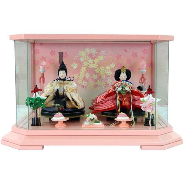 雛人形 ひな人形 親王ケース飾り 親王飾り 雛飾り 節句人形 桃色