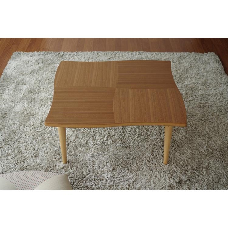 座卓 リビングテーブル 机 テーブル 国産 リビング NAMI(ナミ) ウォールナット 80