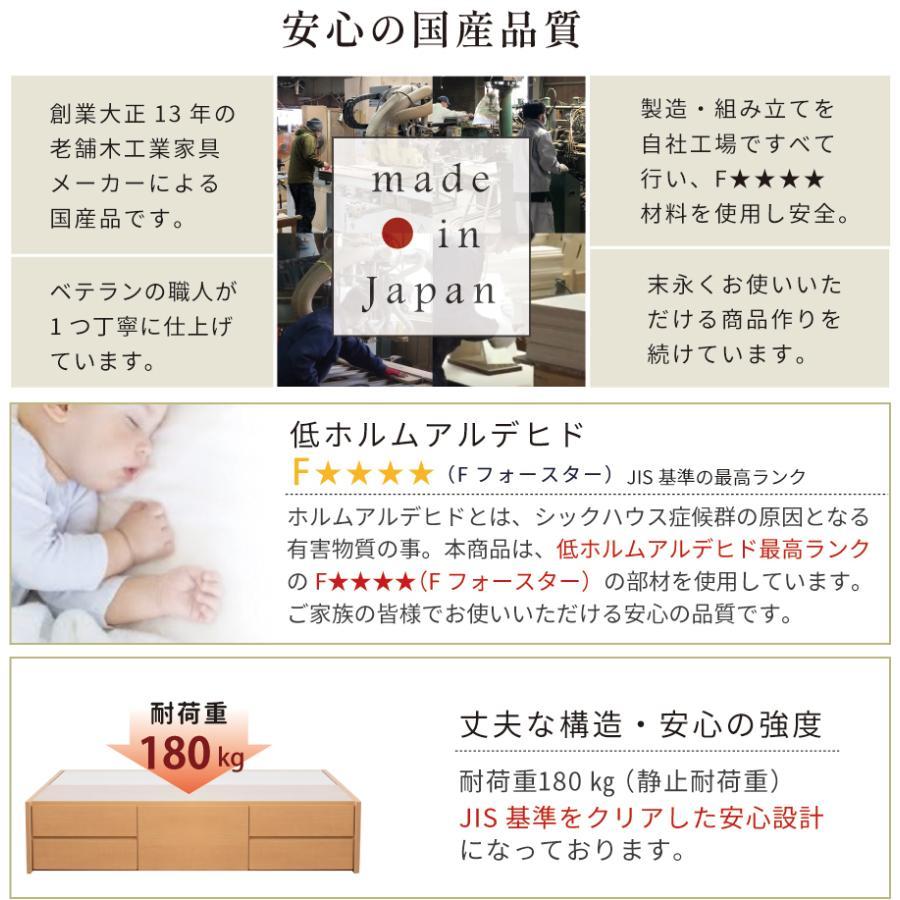 チェストベッド シングルベッド 日本製 収納ベッド 国産ベッド ベッド シングル 本体フレームのみ ディクシー 大容量収納 5杯引出 BOX|kaguranger|09