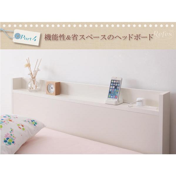 セミシングル 収納ベッド 5杯引出 セミシングルベッド ショートタイプ リフェス 幅83cm ベッドフレームのみ|kaguranger|05
