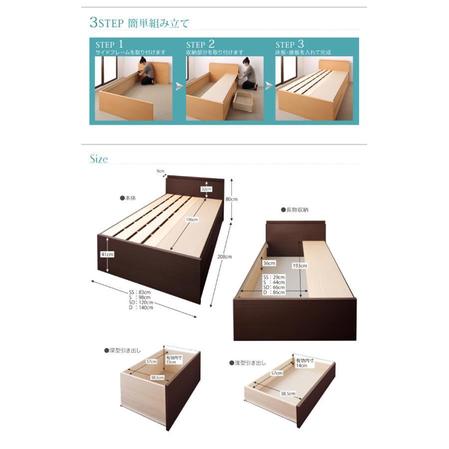 国産ベッド シングル ベッド  5杯引出 BOX型 頑丈すのこ 薄型カウンター フレームのみ コンセント ヘラクレス|kaguranger|17