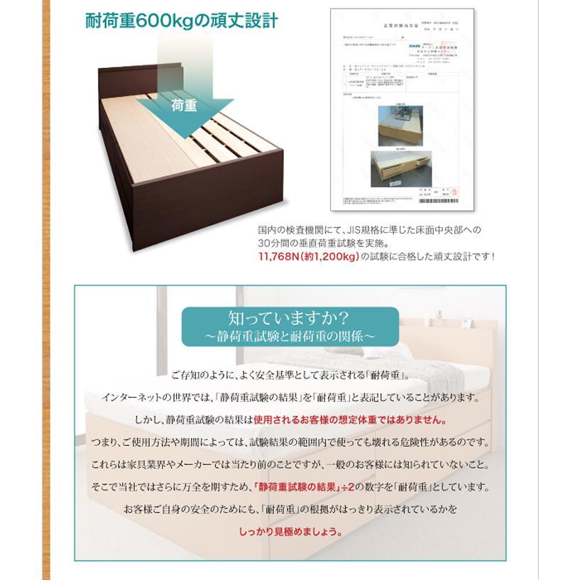 国産ベッド シングル ベッド  5杯引出 BOX型 頑丈すのこ 薄型カウンター フレームのみ コンセント ヘラクレス|kaguranger|05