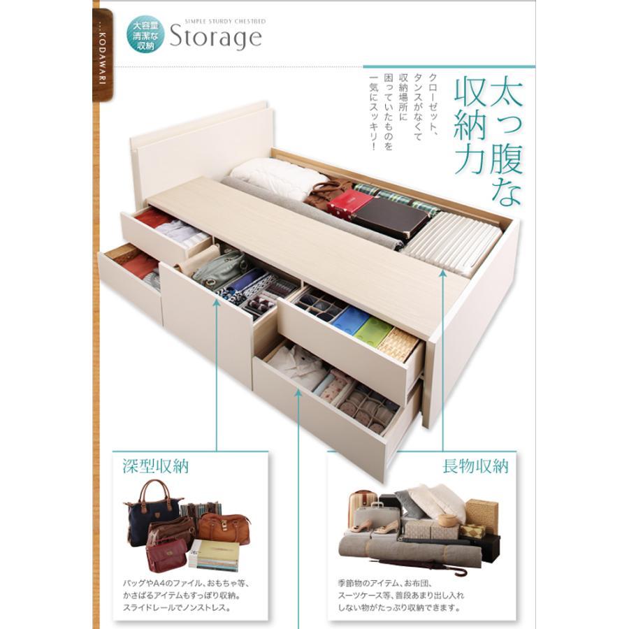 国産ベッド シングル ベッド  5杯引出 BOX型 頑丈すのこ 薄型カウンター フレームのみ コンセント ヘラクレス|kaguranger|06
