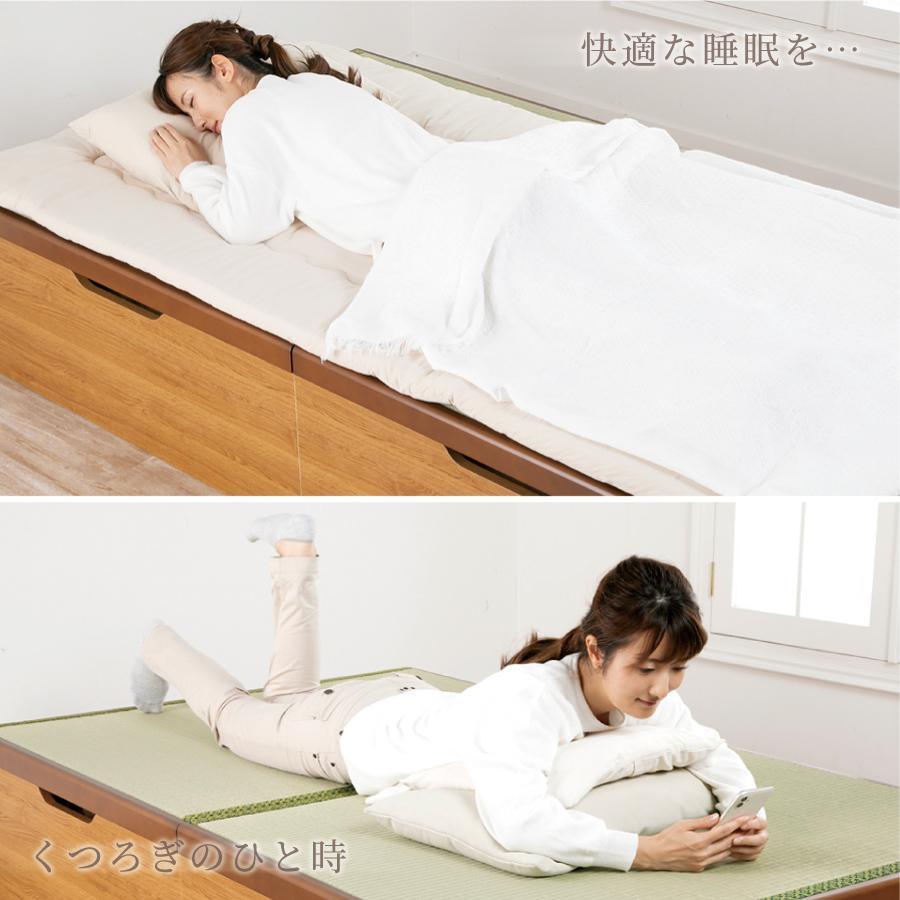 畳ベッド シングル ロング 収納 跳ね上げ式 アウトレット 送料無料 大容量収納 ヘッドレス 富士|kaguranger|02
