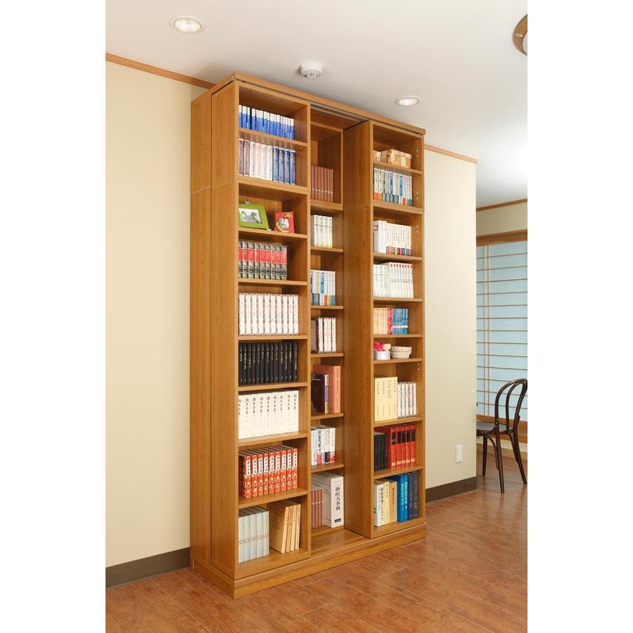スライド書棚 書架 スライド 本棚 日本製  幅127 高さ237cm オープン3列 上置き付き 関東地区は組立設置込み|kaguranger|02
