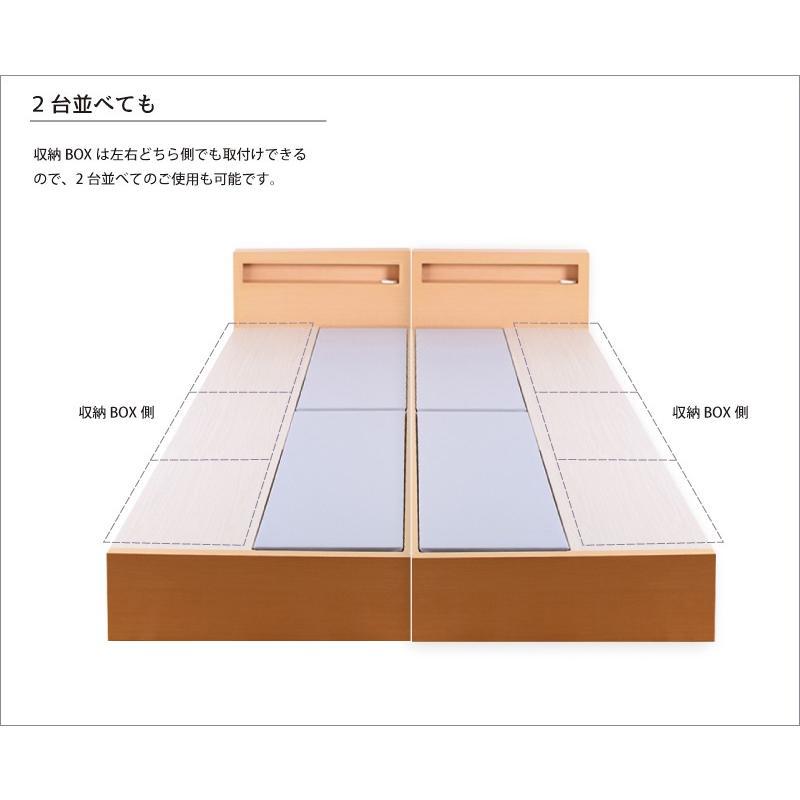収納ベッド セミダブル ヘッドボード 3タイプ 新型 3BOX チェストベッド フレームのみ コンセント #16|kaguranger|16