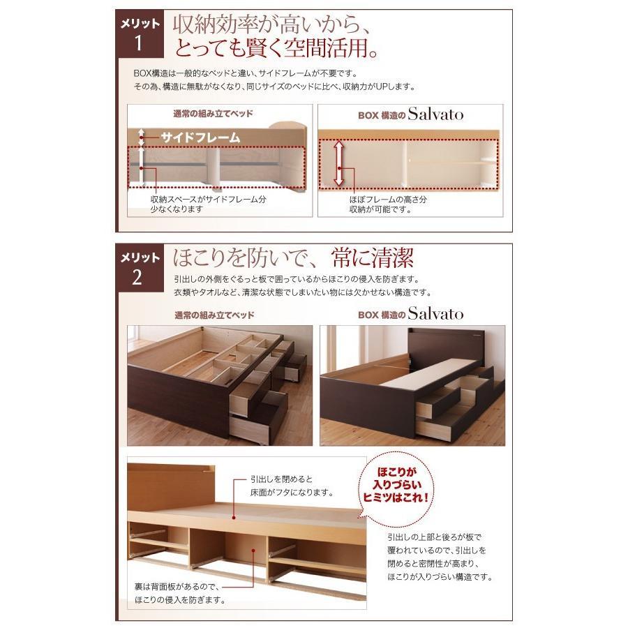 シングル すのこ ベッド 収納ベッド 5杯引出 シングルベッド サルバト 幅98cm ベッドフレームのみ|kaguranger|11