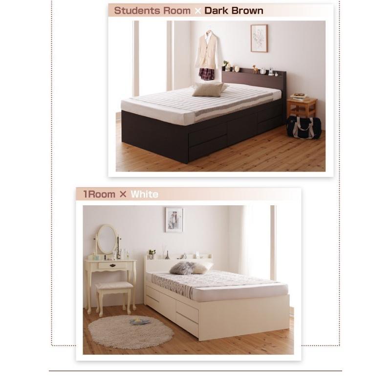 シングル すのこ ベッド 収納ベッド 5杯引出 シングルベッド サルバト 幅98cm ベッドフレームのみ|kaguranger|20