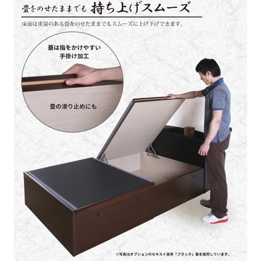 ベッド 大量収納 畳ベッド セミダブル 跳ね上げ式 ヘッドレスタイプ セミダブルベッド アウトレット 送料無料 富士 富士|kaguranger|03