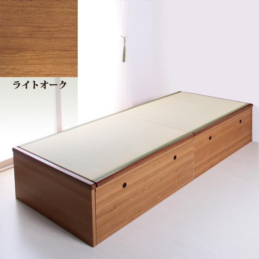 ベッド 大量収納 畳ベッド セミダブル 跳ね上げ式 ヘッドレスタイプ セミダブルベッド アウトレット 送料無料 富士 富士|kaguranger|09