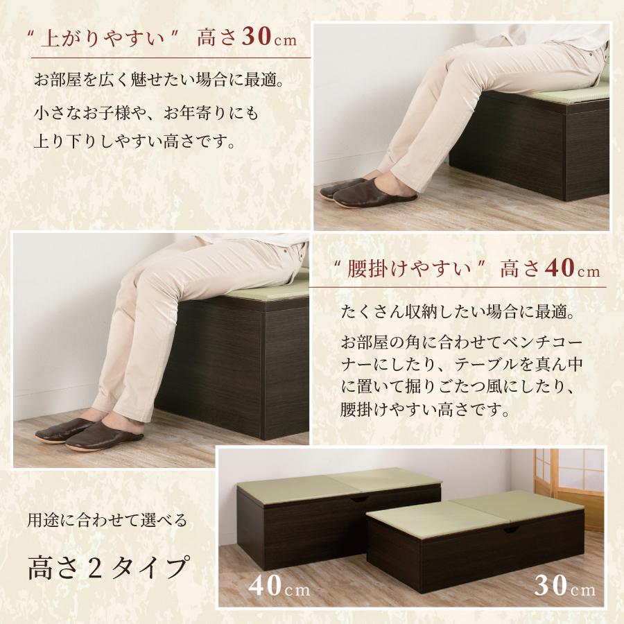 高さ40cm 120×120 ボックス収納 日本製 畳ユニット 組立式 フタ式収納 い草畳 そよ風 そよかぜ|kaguranger|05