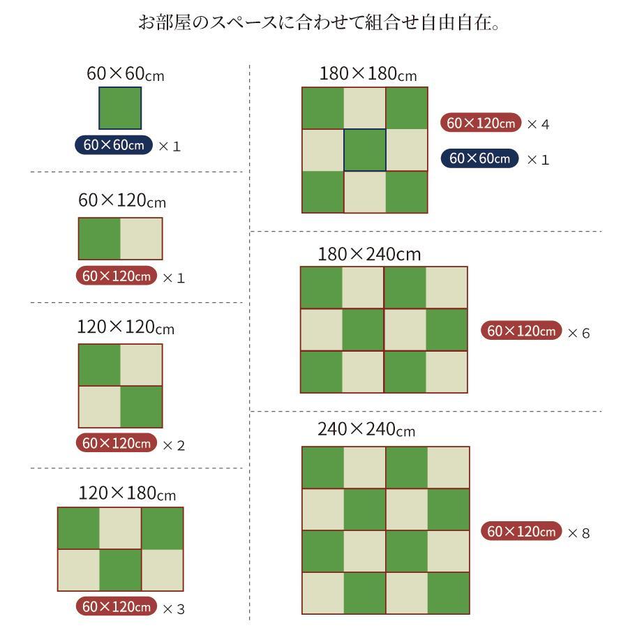 高さ40cm 180×180 ボックス収納 日本製 畳ユニット 組立式 フタ式収納 い草畳 そよ風 そよかぜ|kaguranger|13