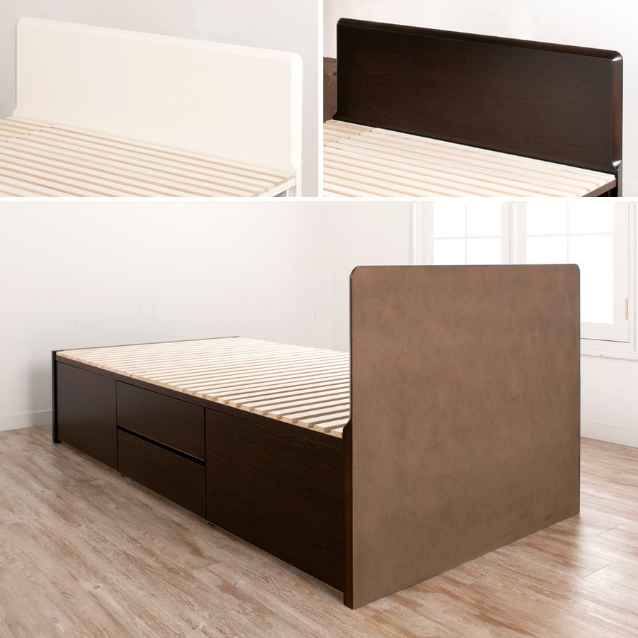 すのこベッド シングル 収納ベッド スノコベッド 日本製 大型引出 OHS 引き出し付き 大容量  フラット パネル 本体フレームのみ|kaguranger|11