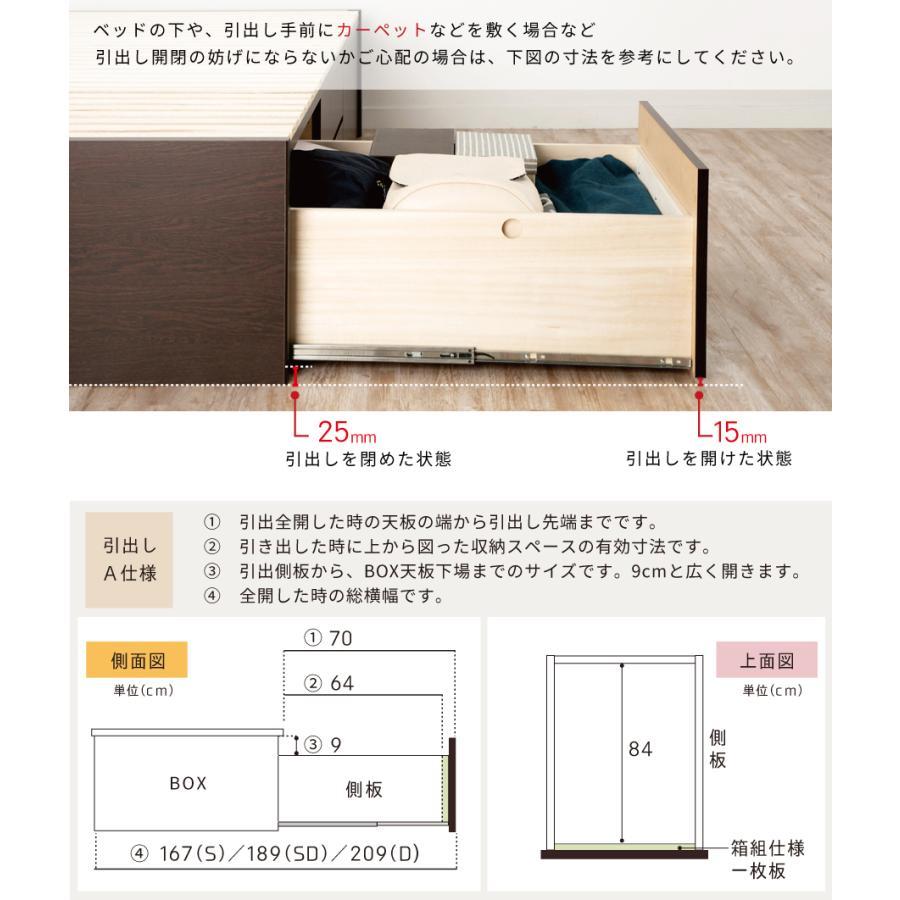 すのこベッド シングル 収納ベッド スノコベッド 日本製 大型引出 OHS 引き出し付き 大容量  フラット パネル 本体フレームのみ|kaguranger|12