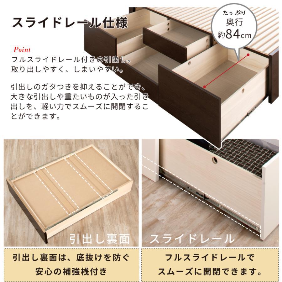 すのこベッド シングル 収納ベッド スノコベッド 日本製 大型引出 OHS 引き出し付き 大容量  フラット パネル 本体フレームのみ|kaguranger|05
