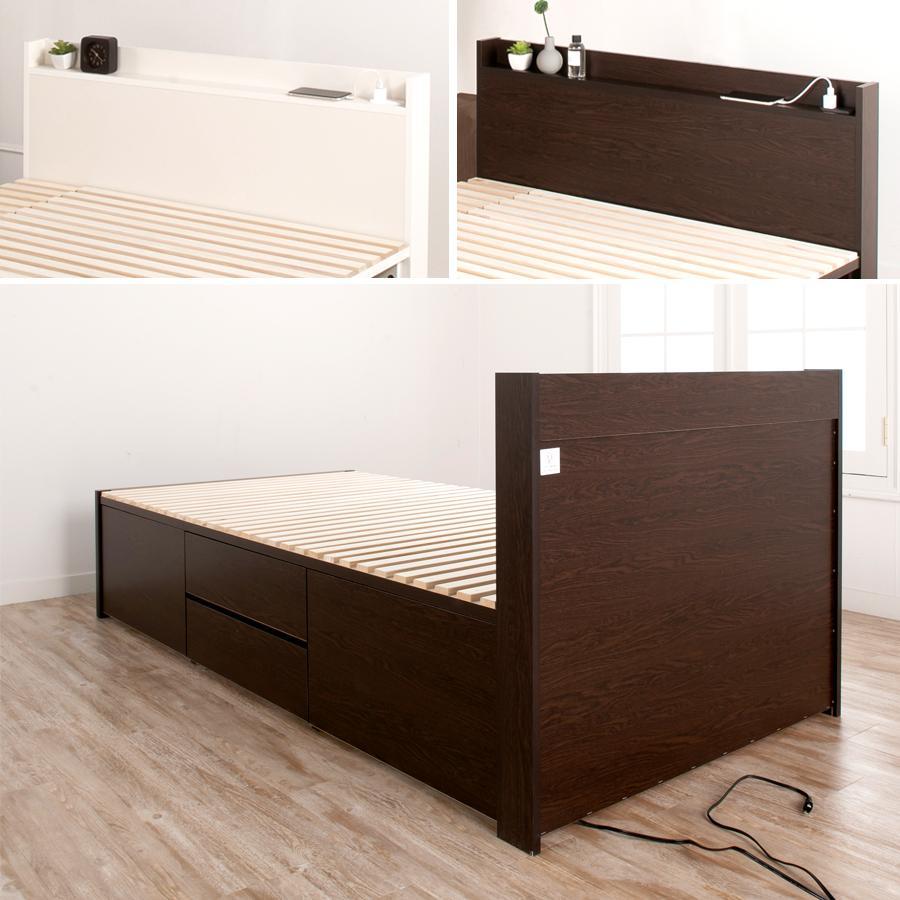 すのこベッド シングル 収納ベッド スノコベッド 日本製 大型引出 OHS 引き出し付き 大容量 コンセント ステイシー 本体フレームのみ|kaguranger|11