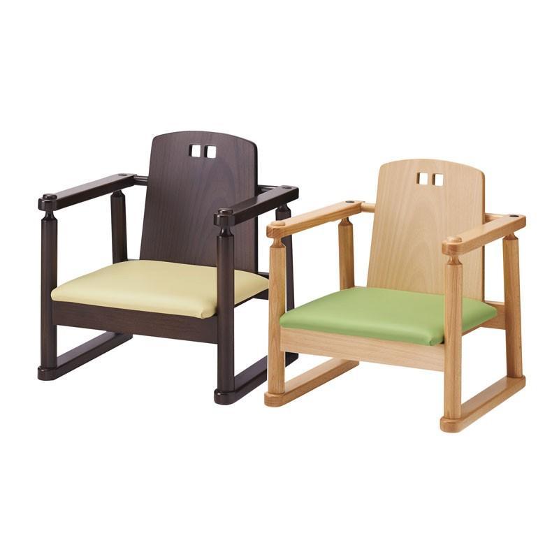 座敷用子供用食事椅子 お部屋用こども椅子和風飲食店イス木色2種類業務用家具店舗用いすcock