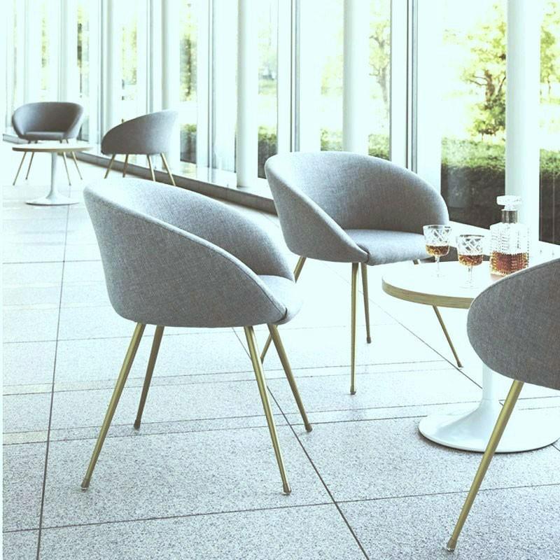 カフェチェア 幅広ロビーイス パイプメタル椅子業務用椅子egret-3