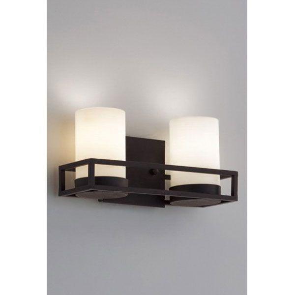 アンティーク風ブラケット照明壁面(黒)+乳泊ガラスLEDランプ照明2灯 erb6372x