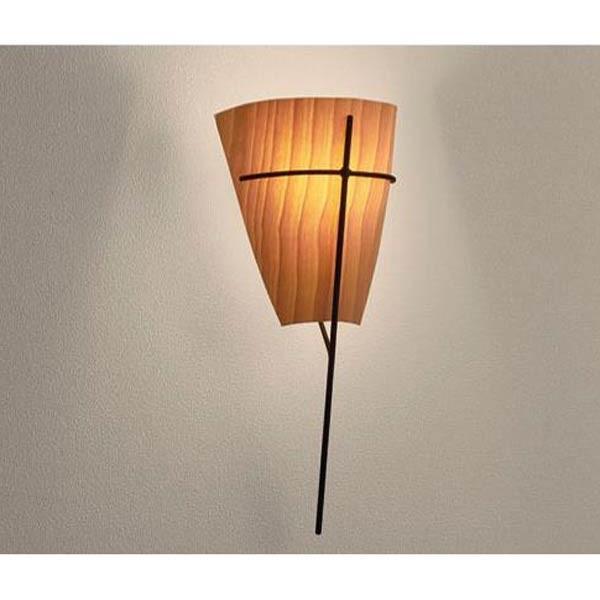 ブラケットライト 木 照明器具 和室おしゃれなインテリアLED対応縦型壁面照明 mb50417-02