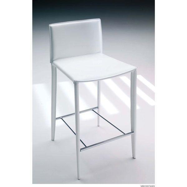 カウンター椅子 デザイナーズカウンターチェアーレザー本革 イタリア製mbc0074wh