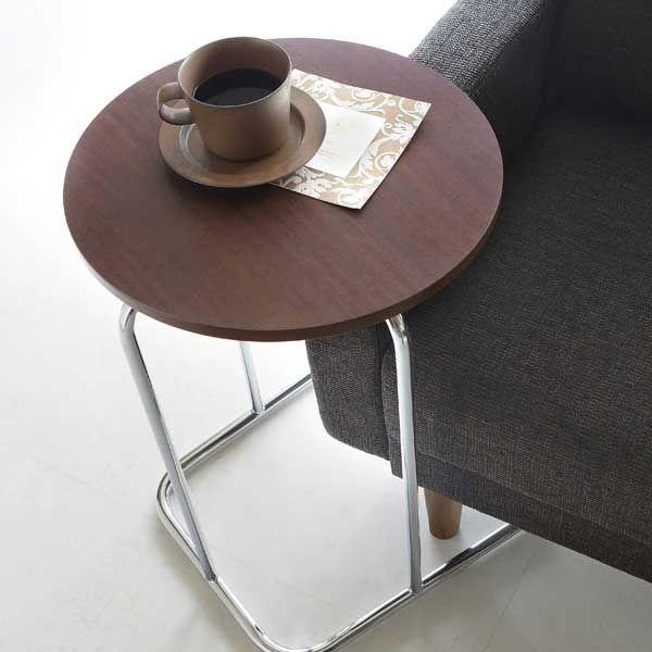 サイドテーブル丸型直径40cmコーヒーテーブル 店舗家具業務用家具天板色2色から kt769