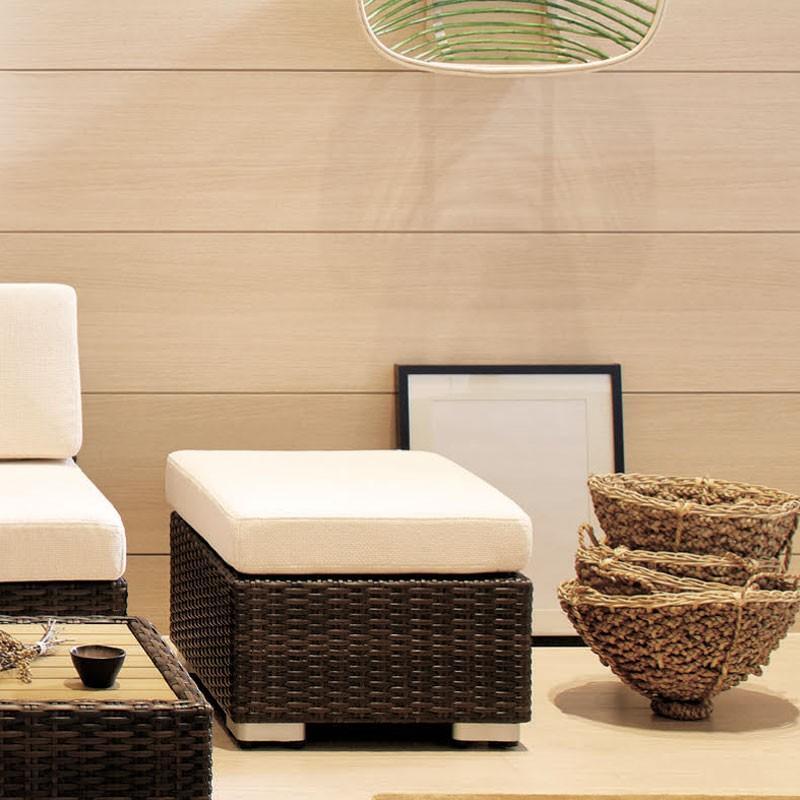 ソファ籐ラタン風ガーデンソファースツール rhodes-stool