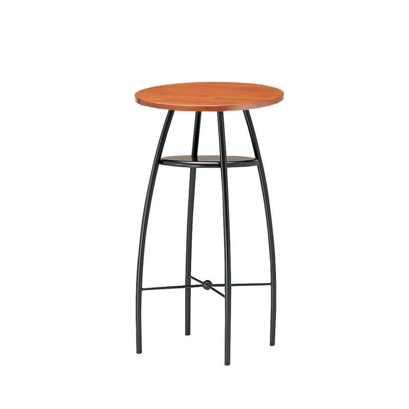 カウンターテーブル ラバーウッド集成材板3色業務用店舗用テーブル直径60cmサイズ st906-ct414