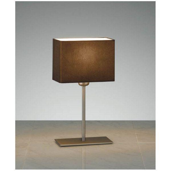 長方型テーブルスタンドライト布セード照明ブラウン LEDランプ照明 XRF3016U