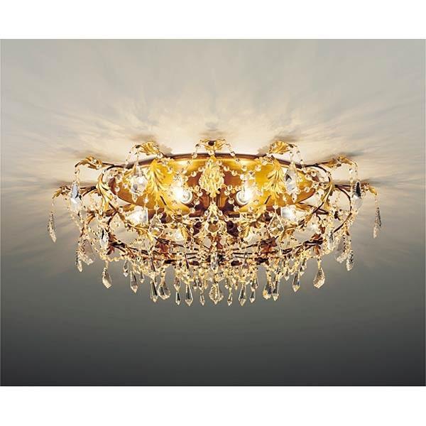 ゴージャス高級 クラシックシャンデリア ゴールド クリスタルビーズ 6灯 幅90cm xrg4010k