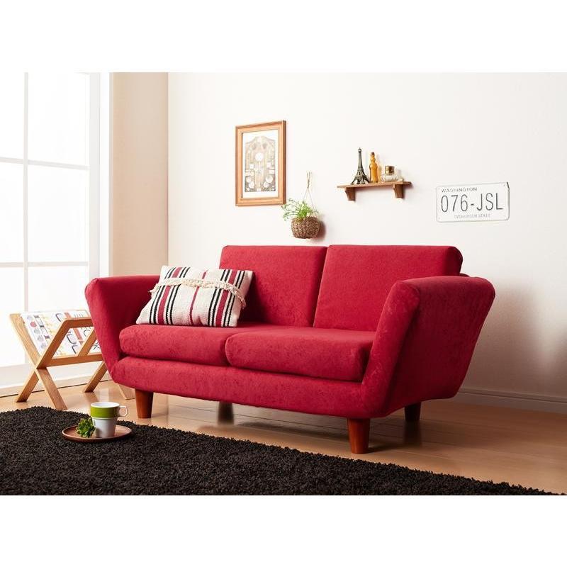 座椅子と分割できる省スペースリクライニングカウチソファ 座椅子と分割できる省スペースリクライニングカウチソファ ソファ 2P