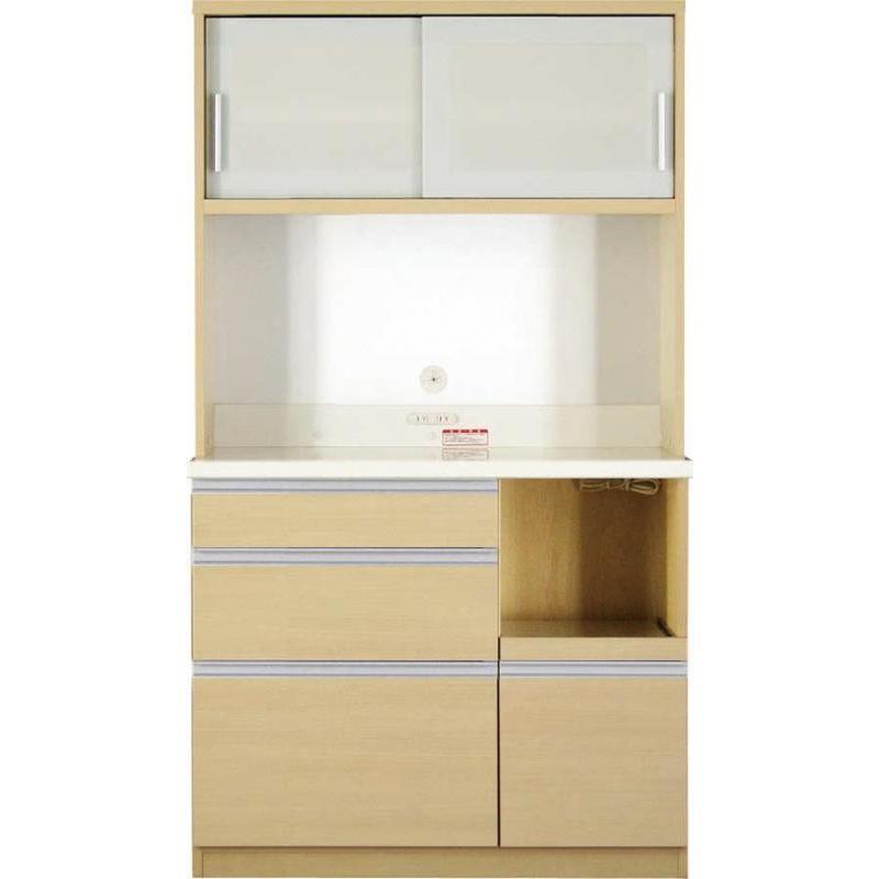 大型レンジ対応 清潔感のある印象が特徴のキッチンボード キッチンボード 開梱設置付 100cm 178cm 51cm