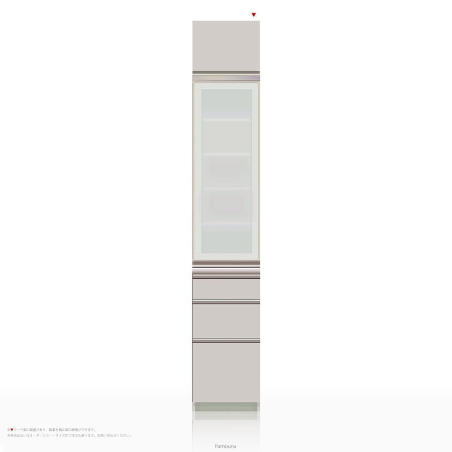 上棚付き食器棚 キッチンボード Pamouna(パモウナ) IEシリーズ IE-400KR [開き扉] (幅40cm, 奥行き50cm, 右開き仕様, シルキーアッシュ色)